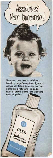 Óleo Johnson. Publicidade dos anos 50.